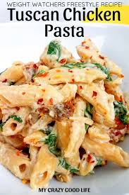 this weight watchers tuscan en pasta is an easy weeknight meal weight watchers crockpot recipes