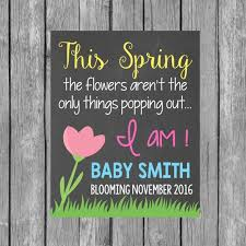 spring baby announcements spring pregnancy announcement chalkboard by lalaexpressions