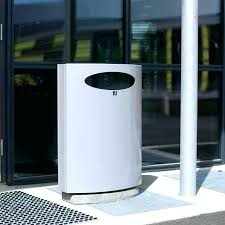 in wall trash can public trash can wall mounted galvanized steel concrete in bin wall hung