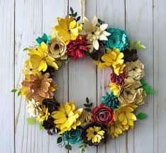Christmas Paper Flower Wreath How To Make A Paper Flower Wreath For Fall With Gemini Die Cutting
