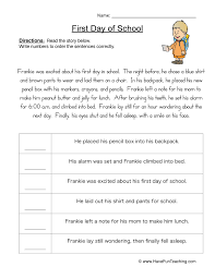 of Events Worksheet 2