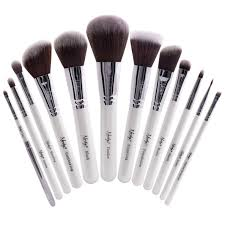 masterful collection pearlescent white make up brush set