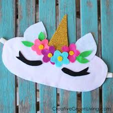 free printable pattern and template to make a diy unicorn sleeping eye cover