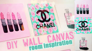 best diy room inspiration decor chanel mac designer paintings of wall art canvas popular and trends on diy canvas wall art tumblr with marvelous canvas wrapped embellished art print chanel no perfume