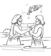 Small Picture Baptism Of Jesus Coloring Page Kids Coloring Baptism Of Jesus