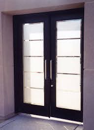 frosted glass front door houzz