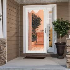 super security glass door larson secure elegance white full view laminated glass