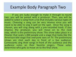 connection between paragraph and essay example body paragraph