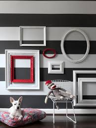 empty picture frame wall grouping