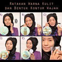 tutorial makeup natural hijab daily