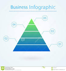 Diagram Of A Pyramid Business Pyramid For Infographic 5 Levels Marketing