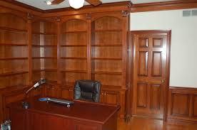 paneled home office home office with wood paneling cherry wood home office