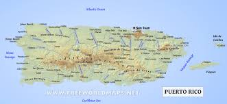 puerto rico map geographical features of puerto rico of the