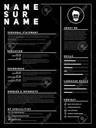 Resume Minimalist Cv Template With Simple Design Company
