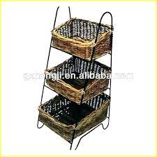 3 tier fruit basket stand tiered floor 2 ti