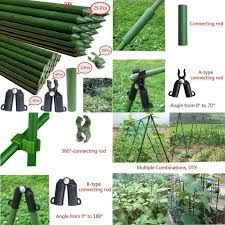newtion 25pcs 4 ft garden stakes steel