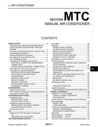 nissan frontier manual air conditioner section mtc pdf 2006 nissan frontier manual air conditioner section mtc 116 pages