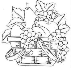 2304bad57e6f7ae57217fd6e9934eba5 fruit basket art clip art line drawings sketching line on coloring pages of fruits in a basket