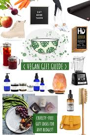 collage of vegan friendly gift ideas
