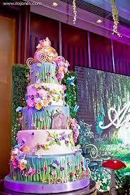 fairy garden cake from an enchanted garden princess birthday party on kara s party ideas karaspartyideas