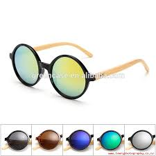 latest styles japanese style round frame school fashion pc wood sunglasses