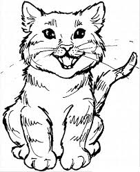 Color by number page has color numbers marked in the area where the student needs to color and a color index to show what each color number represents. Free Printable Cat Coloring Pages For Kids