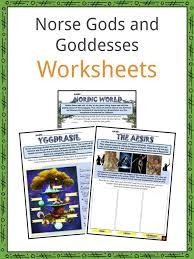 Norse Mythology Chart Norse Gods And Goddesses Facts Worksheets The Mythology