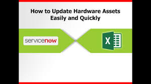 excel asset management servicenow asset management via microsoft excel integration youtube