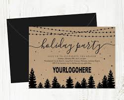 Company Christmas Party Invite Template Add Business Logo Corporate Holiday Party Invitation Printable