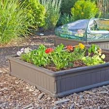 garden bed kit. Amazon.com : Lifetime 60053 Raised Garde Bed Kit, 2 Beds And 1 Early Start Vinyl Enclosure Greenhouse Cold Frames Garden \u0026 Outdoor Kit