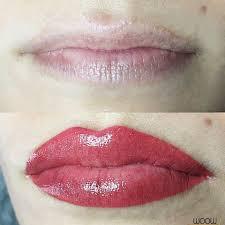 перманентный макияж губ фото до и сразу после процедуры после