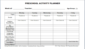downloadable lesson plan templates best photos of free printable preschool lesson plan template
