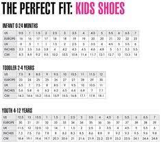 Puma Junior Size Chart 13 Best Children Shoe Size Chart Images Shoe Size Chart