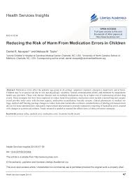 Pdf Reducing The Risk Of Harm From Medication Errors In