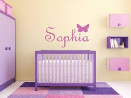 baby name wall decals for nursery