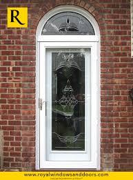 white single front doors. Single Entry Door , White Finish, Transom, Designer Glass Elmont Storm Front Doors T