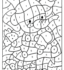 Color By Number Pages For Kindergarten Benhargraveclub