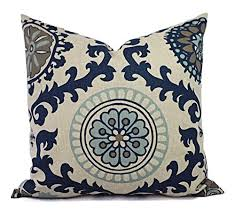 navy pillow shams. Unique Navy Dark Blue And Beige Floral Pillow Shams  Navy Covers Linen  Cases Intended L