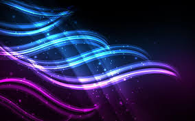 Neon Blue And Purple Wallpaper