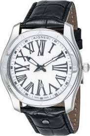 aigner lazio men s white dial leather band watch a42111a price aigner lazio men s white dial leather band watch a42111a