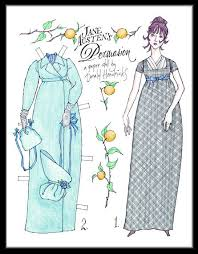 best jane austen paper dolls images jane austen jane austen persuasion paper doll by hendricks