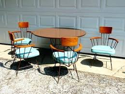 round mid century dining table inspiring mid century modern kitchen table and chairs with best mid