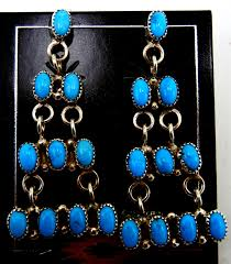 zuni small turquoise and sterling