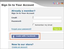 Facebook Login Sign In Ustore Online Help Enabling Registration
