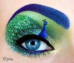 pea inspired eye make up