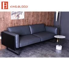 Kopen Sofa Uit China Pure Grijs Lederen Woonkamer Meubels Bankstel