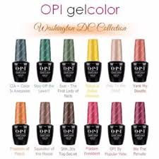 Opi Gelcolor Soak Off Uv Led Gel Polish Colours From The Washington Dc Collection