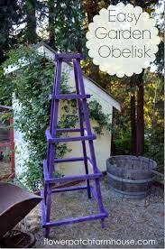 easy garden obelisk flower patch