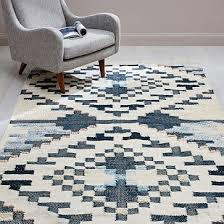 checkerboard diamond wool dhurrie
