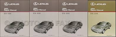 2004 lexus es 330 wiring diagram manual original 2004 lexus es 330 repair shop manual original set 339 00